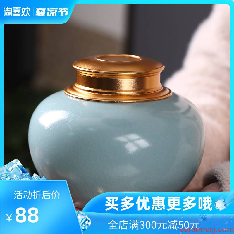Chang ceramic crown caddy fixings your up on seal storage tank large pu 'er wake tea machine double storage POTS