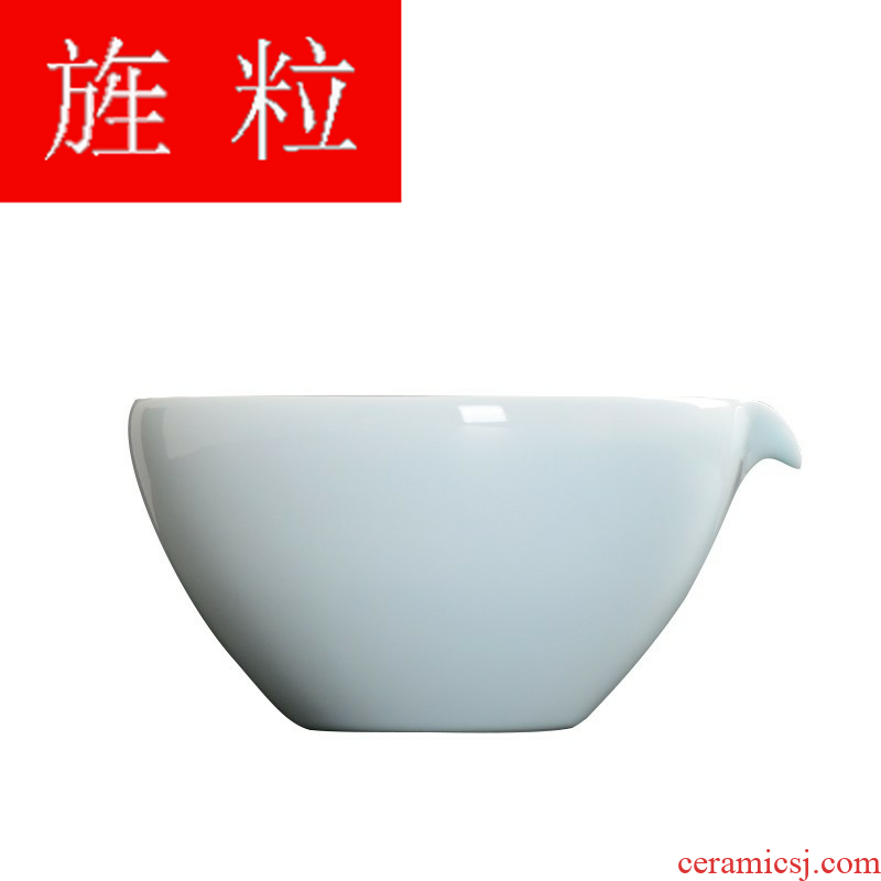Continuous grain of jingdezhen left a shadow qdu number with ceramic tea tea to wash dishes washed writing brush washer tea accessories tea set