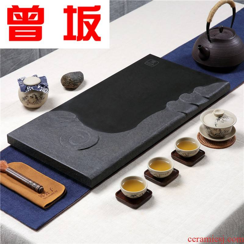Once sitting office household utensils sharply stone tea tray tea tray was dry stone, natural stone tea sea Taiwan tea
