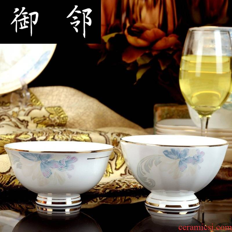 Propagated cutlery sets jingdezhen ceramic tableware 60 head of Paris in the spring of sea continental dishes dishes suit