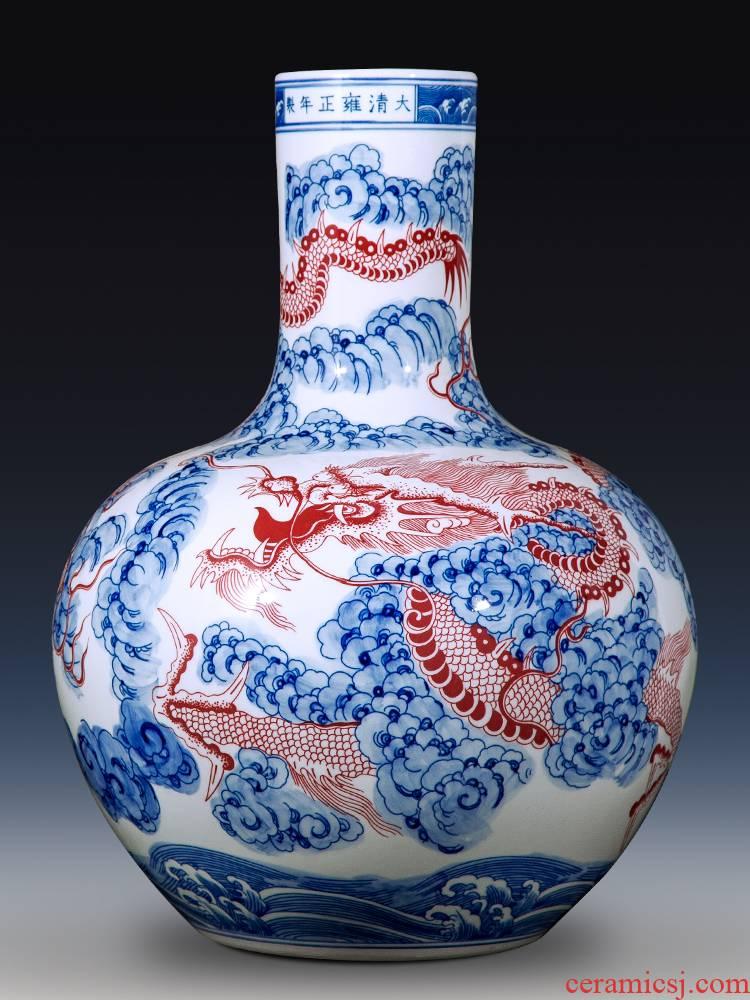 Antique imitation of jingdezhen ceramics up porcelain vase youligong Chinese style household, home furnishing articles gift ornament