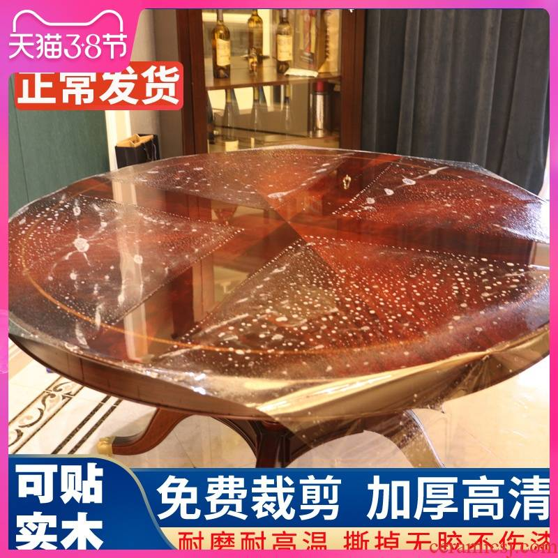 High - grade furniture becomes transparent table, solid wood table son face High temperature protection, crystal hearth marble adhesive