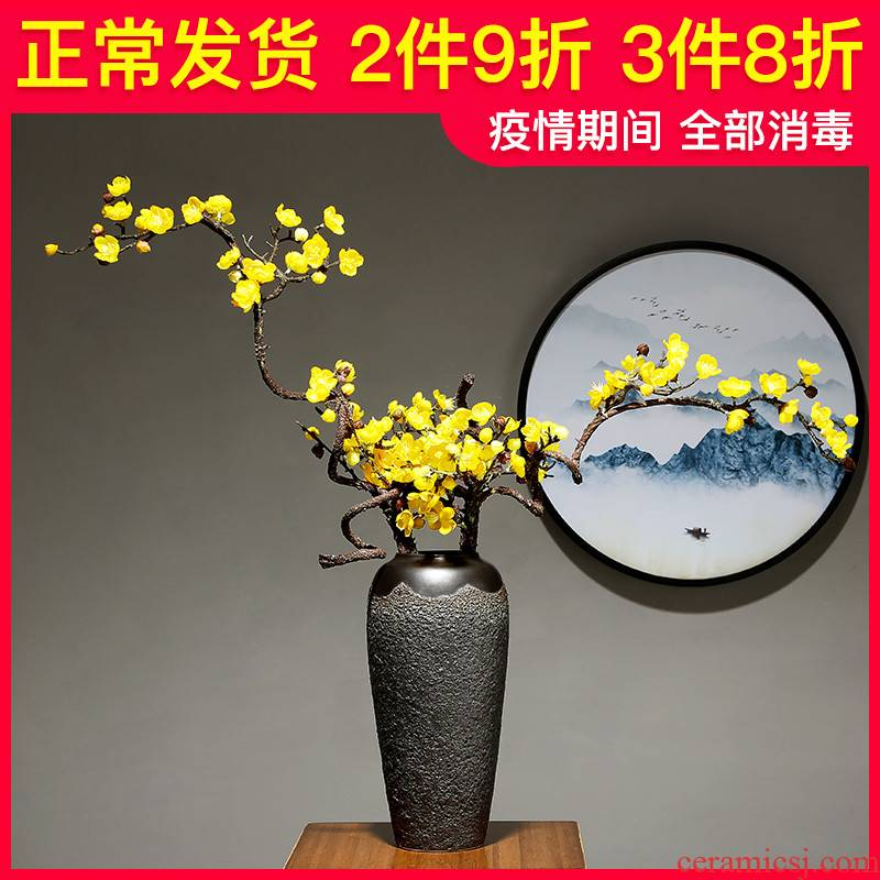 Jingdezhen ceramic dry flower vase sitting room furnishing articles of Chinese style of sitting room furniture study adornment porcelain porcelain flower arrangement