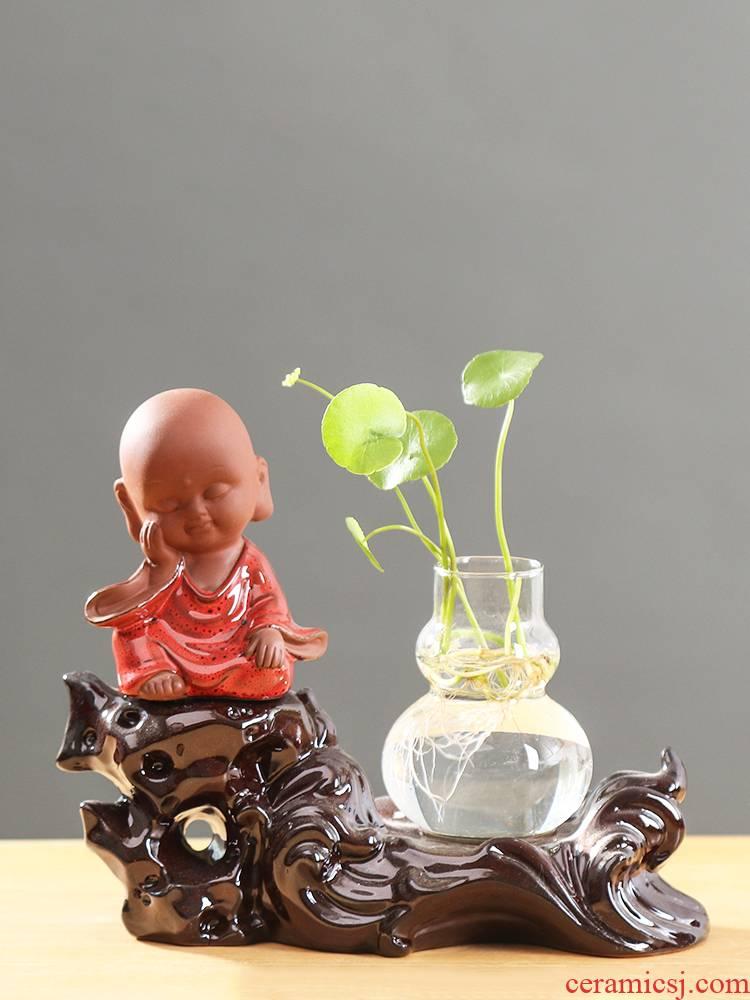 Money plant anthurium hydroponic vase glass transparent creative move aquatic flowers green plant POTS ceramic furnishing articles