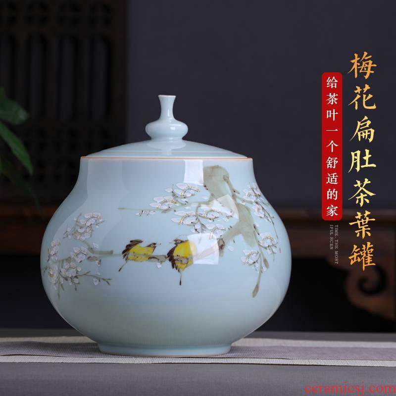 2 jins of jingdezhen ceramics three catties huai pu 'er tea pot seal pot large household who spinosa storage tanks