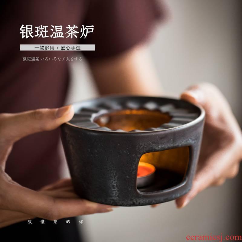 Retro based warm tea tea furnace temperature exchanger with the ceramics base wine heating temperature keep warm the teapot tea, tea accessories