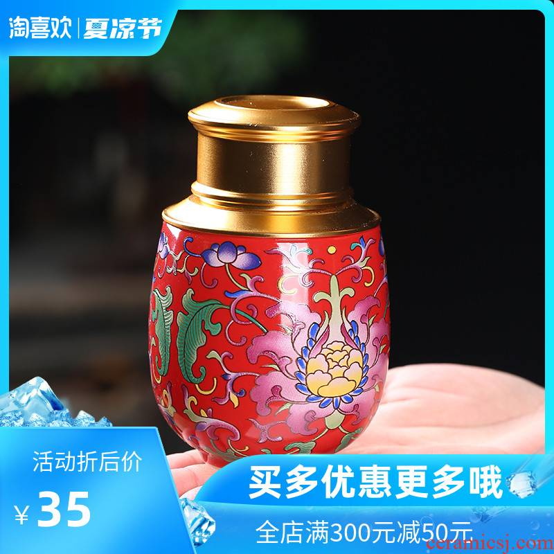 The Crown chang ceramic tea pot seal pot home moisture storage tank top grade tea POTS creative fashion a small pot