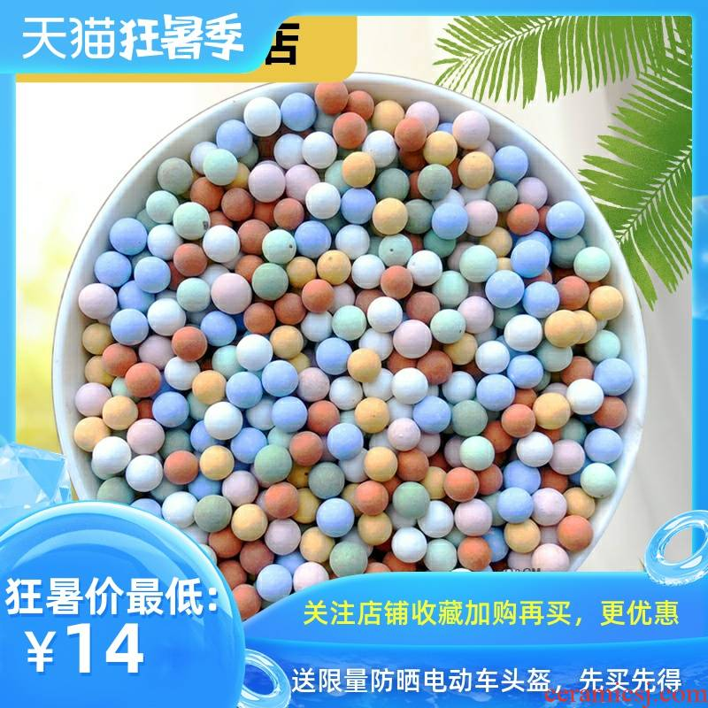 Rich, flowers at the bottom ceramsite hydroponic flower shop surface backfill color more of clay grain of lightweight breathable toilet