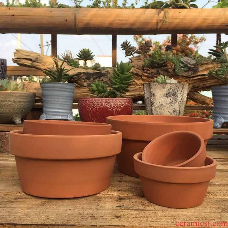 Red clay flowerpots meaty plant POTS international ceramics flowerpots short com.lowagie.text.paragraph Red clay round flowerpot bottom hole