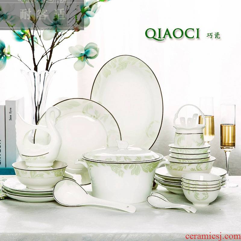 Guest comfortable ins hold Nordic contracted jingdezhen ceramic tableware suit upscale western - style dishes Mediterranean dishes