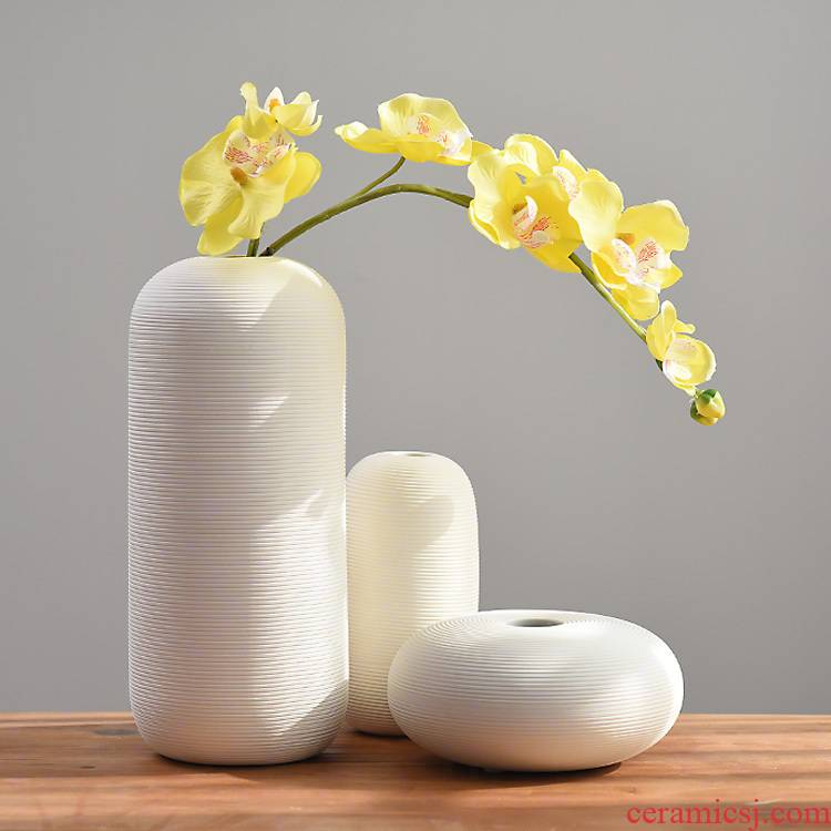 INS furnishing articles creative I and contracted sitting room white ceramic vase household soft adornment hydroponic flower vase