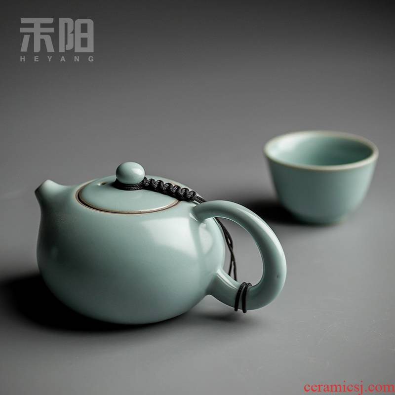 Send Yang your up ceramic kung fu xi shi pot of tea pot, small single pot of your porcelain piece can support his family with a teapot