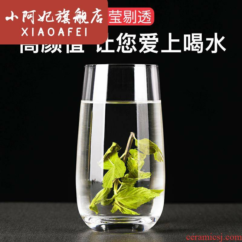 Crystal glass cup home juice drinks milk cup lead - free transparent heat mantra large breakfast ultimately responds cup