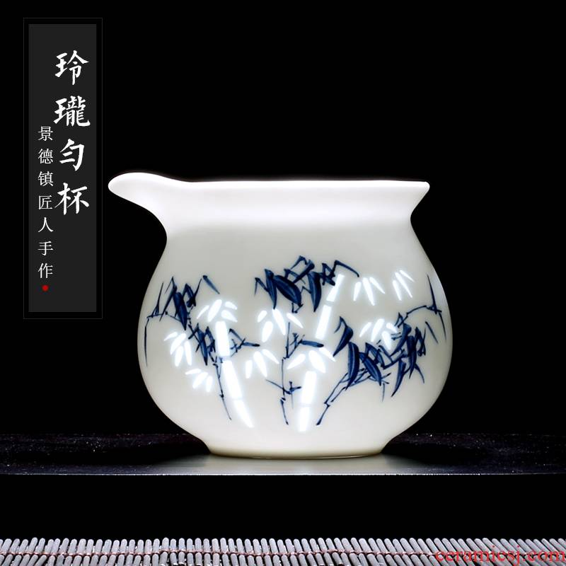 Jingdezhen up the fire which fair hand - made porcelain and exquisite porcelain cup single Chinese ceramic device and a cup of tea