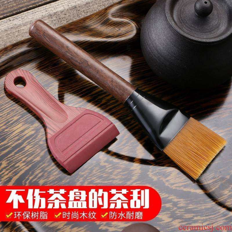 Single tea tea tray silicone brush device clean wipers scraper cleaning tealeaf tea accessories tea tray cleaning brush works