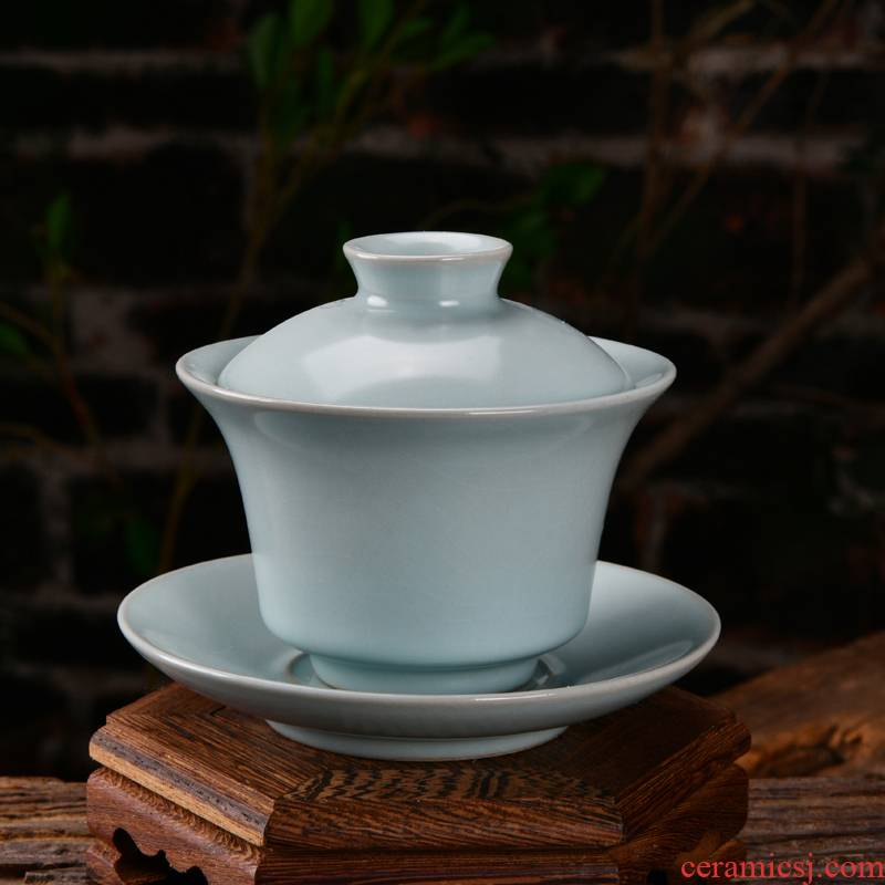 Xu ink three tureen slicing can only keep your up with retro single tureen tea hand celadon hand grasp tureen tea bowl