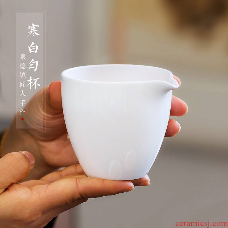 Jingdezhen up fire ceramic fair keller which white porcelain and large tea points sea tea, kungfu tea accessories