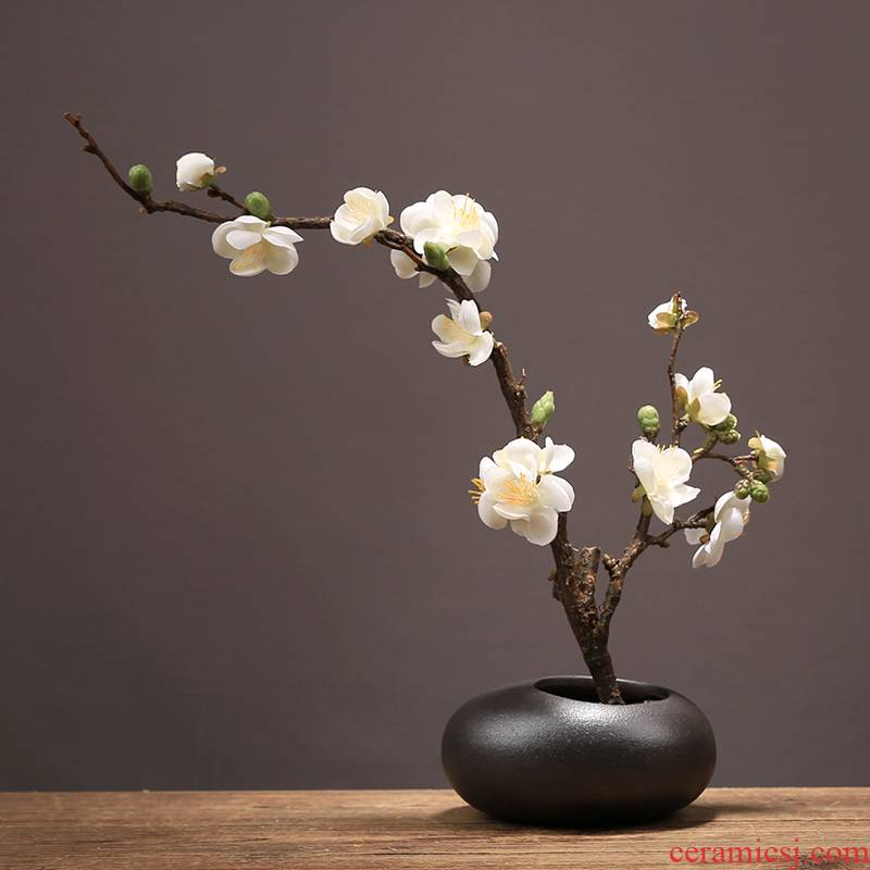 Chinese creative ceramic vase furnishing articles living room table simulation name plum flower arranging household soft adornment zen suit