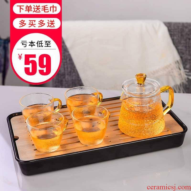 Kung fu tea sets domestic melamine dry small tea mini bamboo saucer dish contracted water modern tea tray