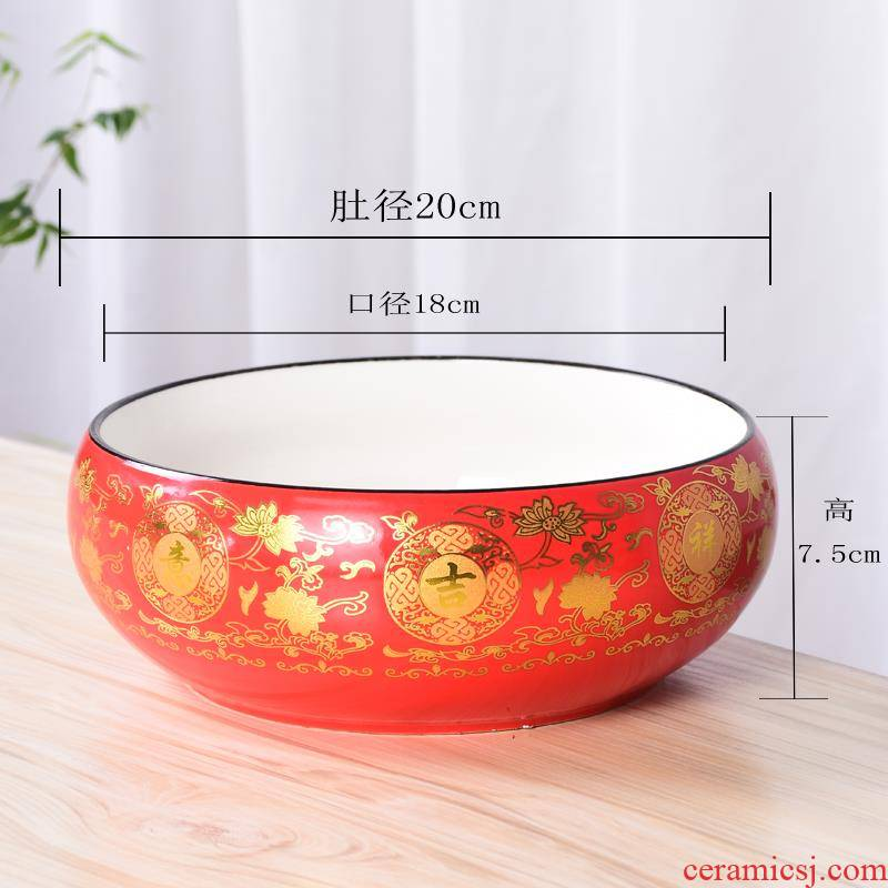 | with money grass flower POTS shallow expressions using wide expressions using large fleshy ceramic household glass bowl lotus water breeding move and restoring ancient ways