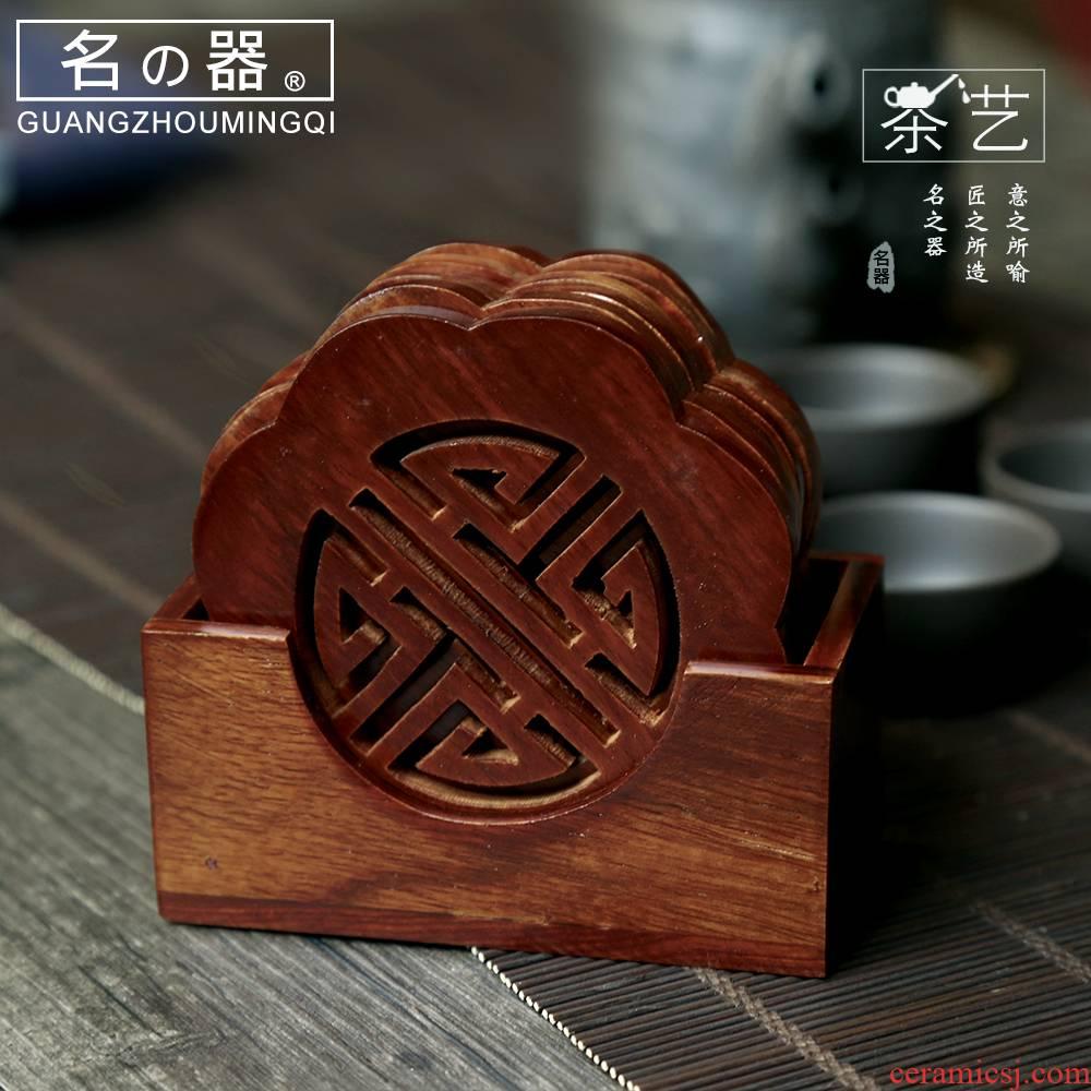 Jas monogatari rosewood mahogany cup mat bowls mat wood coasters wood coasters teacup pad insulation pad wood coasters