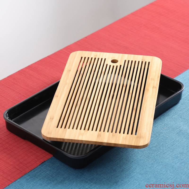 Japanese bamboo tea tray melamine tea sea water type household small tea table work kung fu tea set dry terms plate tray