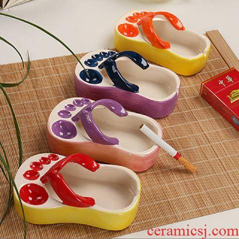 Rhinoceros, express it in cartoon creative move girls shoes ceramic ashtray multi - function mini household gifts gifts