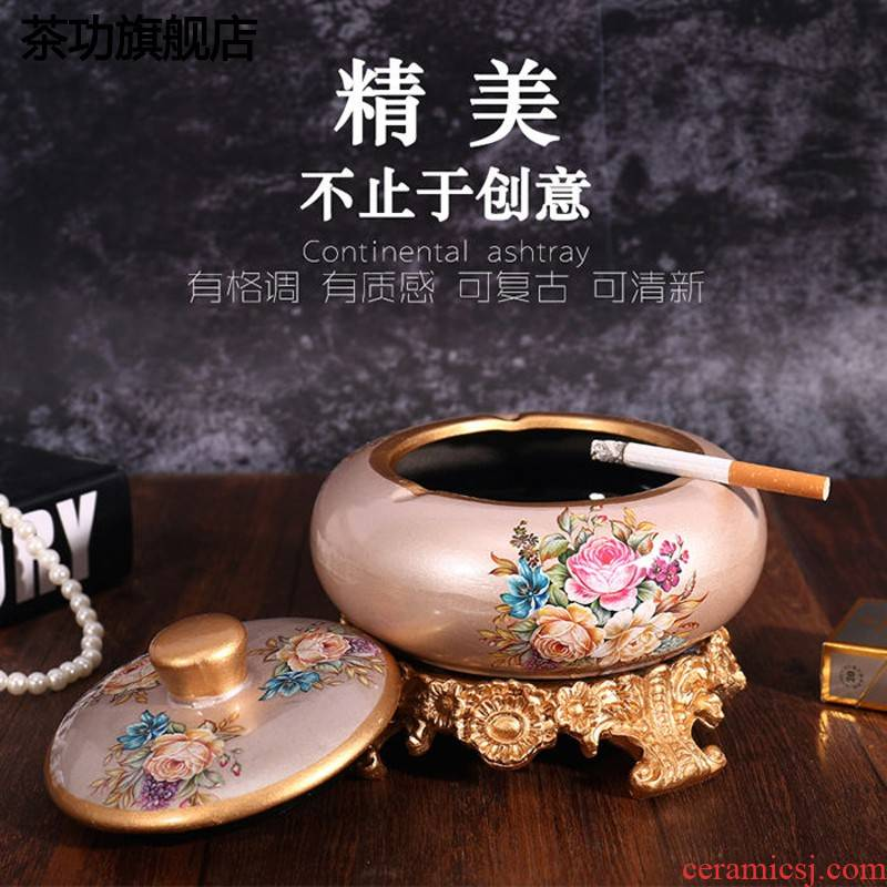 European large home sitting room tea table ashtray ashtray ceramics creative move furnishing articles ornaments ashtray