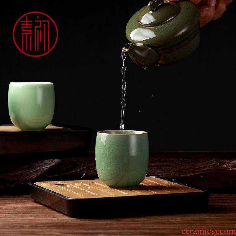 Element six color ceramic cups to welcome guests at the beginning of kung fu tea set single glass office building master cup of light tea cups