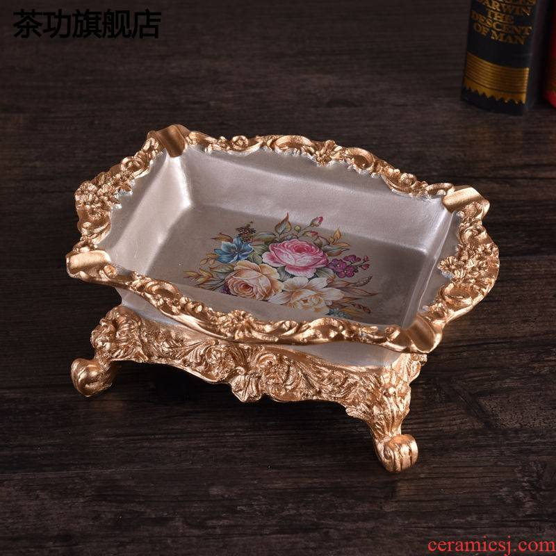 European sitting room top grade tea table ashtray hotel bar desktop big ashtray creative key-2 luxury large ashtray