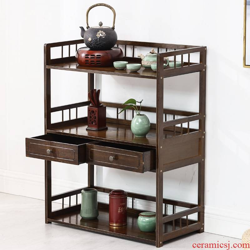 Eat edge ano lockers tank contracted multi - layer solid wood Chinese tea restaurant tea side to receive wine sitting room ark cabinet