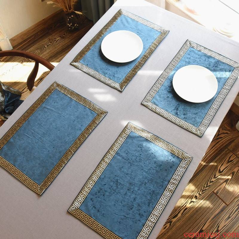 Chinese style dinner table MATS table mat insulation pad beefsteak small key-2 luxury Nordic European American household utensils