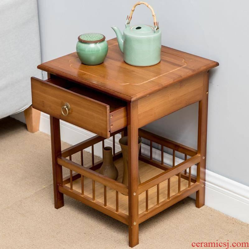 Small tea table of kung fu tea table tea Taiwan bamboo wood contracted sitting room ark, tea a short tea tea set r shelf