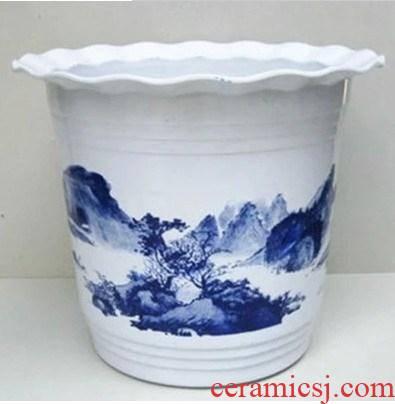 A imitation ceramic flower pot large clearance special ceramic high plastic flower POTS of money tree, A flower pot