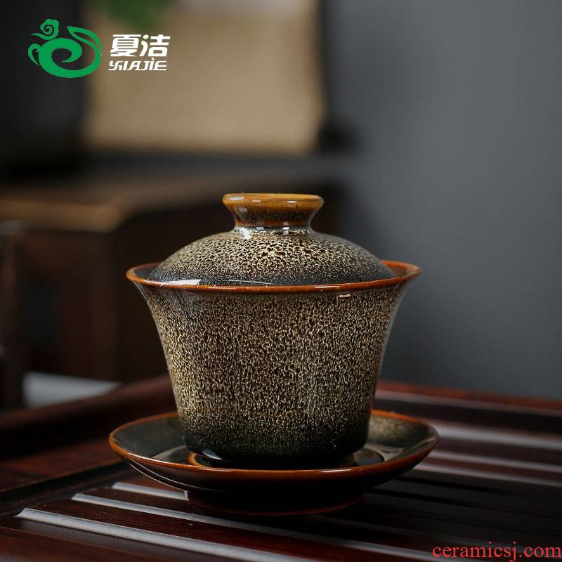 Four - walled yard variable individual tureen daily household visitor office only three tureen tea bowl kung fu tea accessories