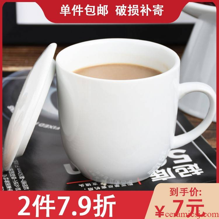 Summer fashion fail mark cup portable drop ceramic cup with cover with no spoon cup household contracted and creative