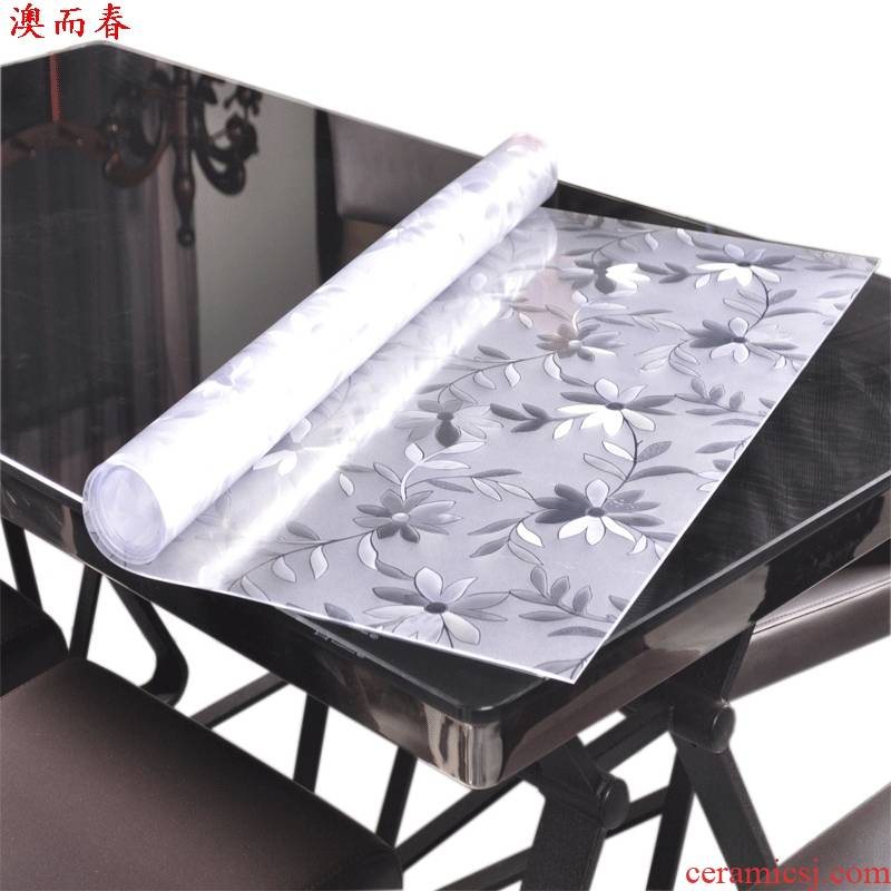 Macao tasteless soft glass, PVC tablecloth waterproof and hot oil, the disposable plastic transparent table pads thick tea table