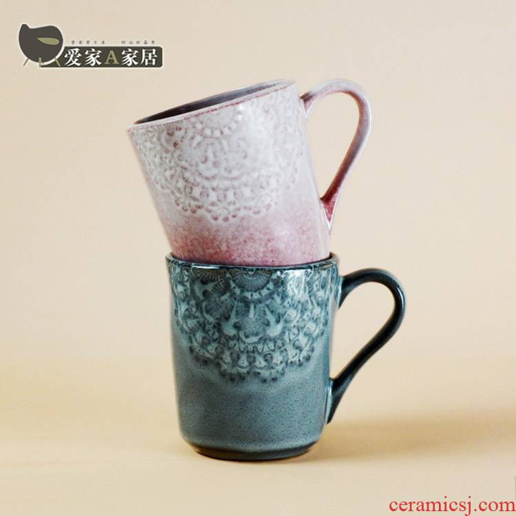 A String of restoring ancient ways guest picking keller ceramic cup Nordic ins office coffee cup, the cup