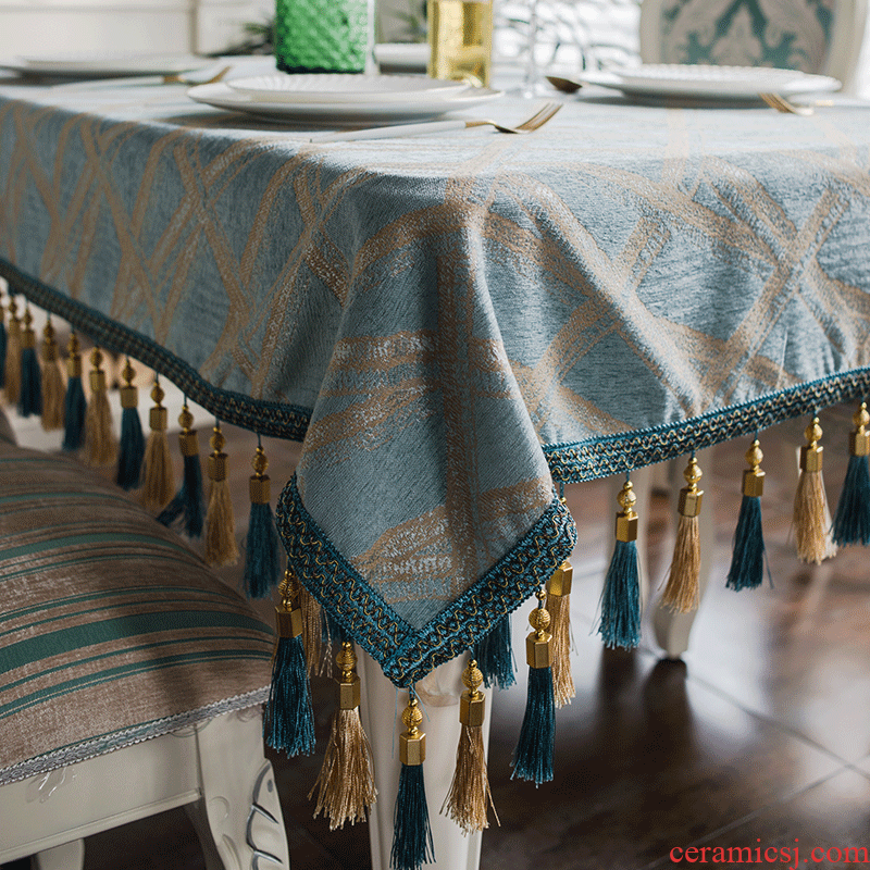 Tea table cloth tablecloth table cloth art value emperor household square table sitting room artical rectangular TV ark of Tea table bay