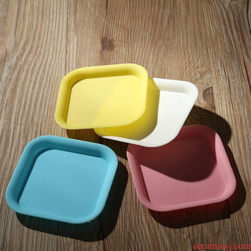 Fleshy flower pot tray plastic tray was tap leakage prevention identifiers water pot base small size