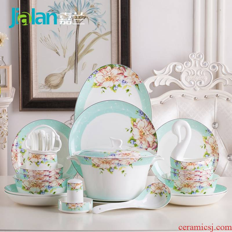 Garland ipads porcelain tableware suit creative and fresh type of household ceramic plate combination of eating the food dishes suit