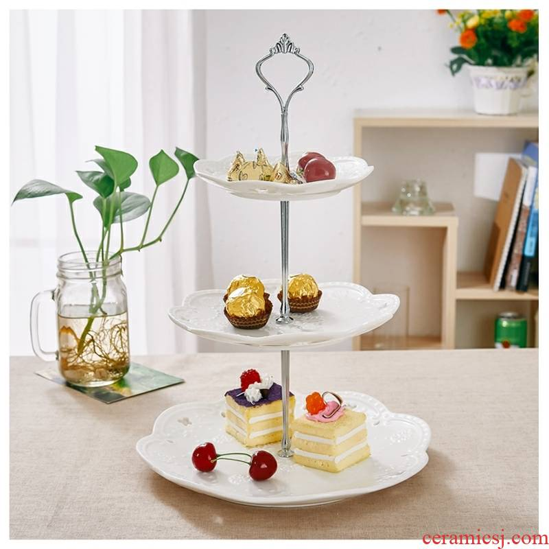 Dessert table furnishing articles, displays the Dessert buffet tea cake tray table shelf cake afternoon snack v