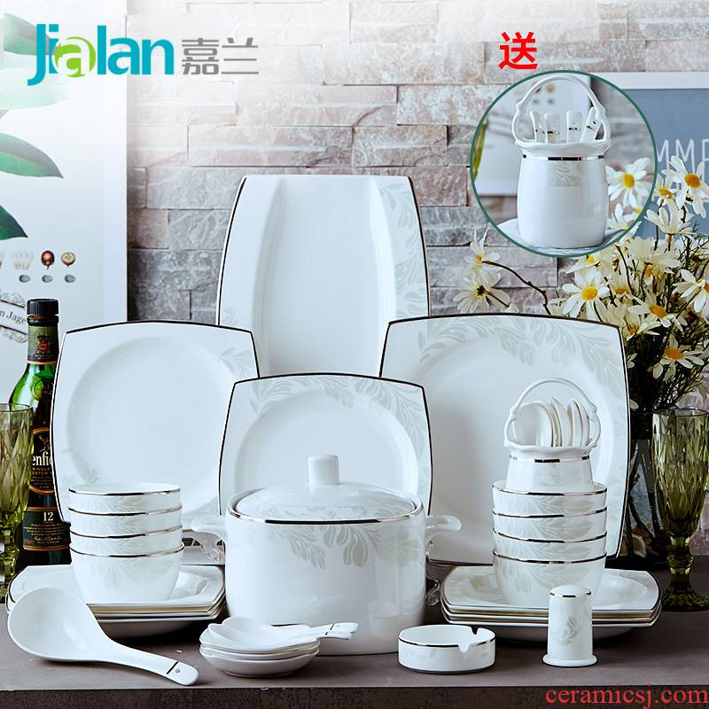 Garland Nordic contracted tangshan ipads porcelain tableware sets up phnom penh western - style ceramic dish plate combination of customized gifts