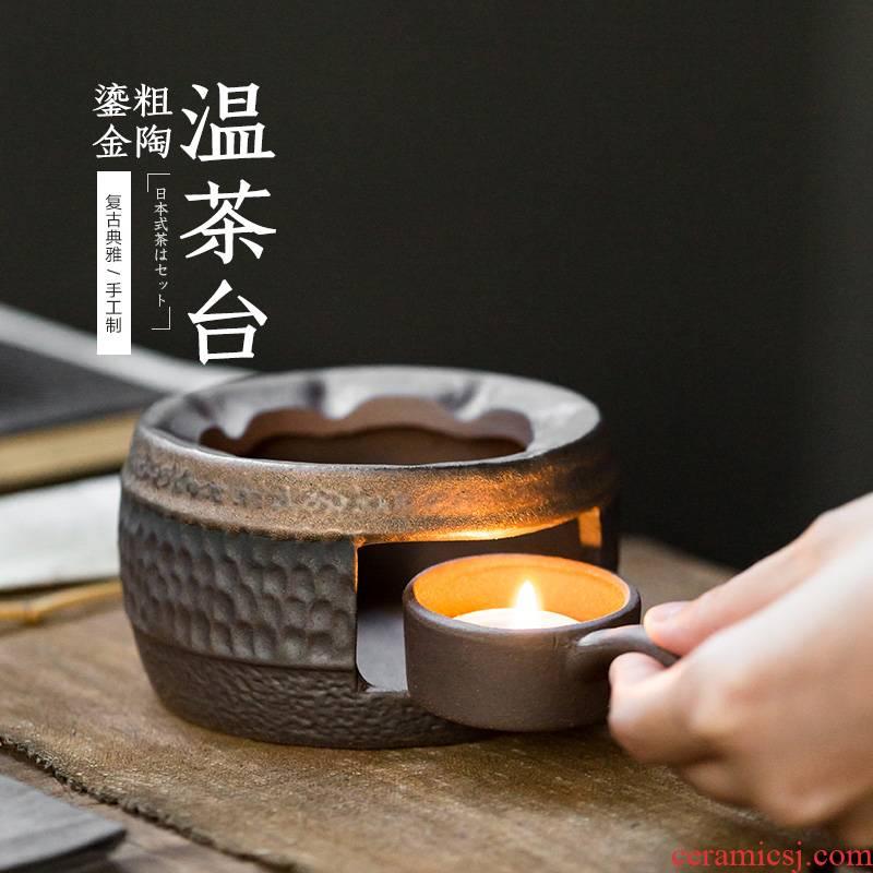 Temperature ceramic tea sets tea stove gold candles base heat insulation Temperature restoring ancient ways wine warm tea, tea accessories