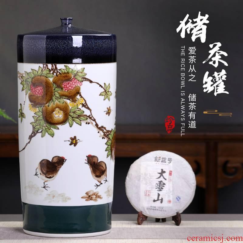 Manual 20 extra large cake ceramic tea pot large domestic large capacity puer tea tea pot cylinder