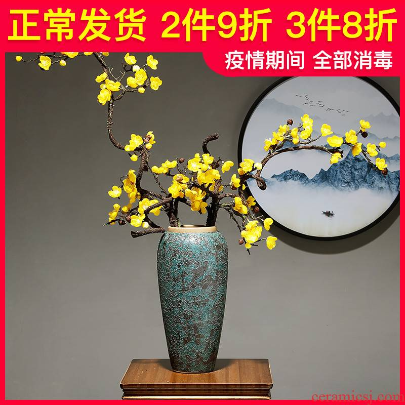 Light ceramic vase European key-2 luxury household table dry flower arranging flowers decorate the sitting room porcelain porcelain crafts