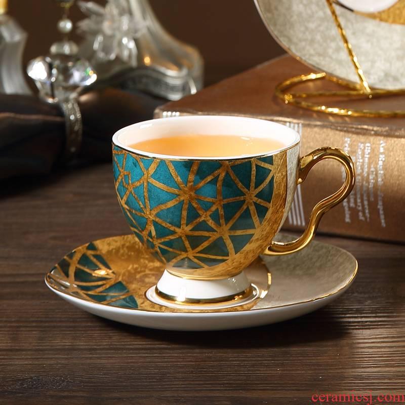 Color pomelo ins small European - style key-2 luxury ipads porcelain coffee cup set ceramic tea light elegant key-2 luxury flower tea cups