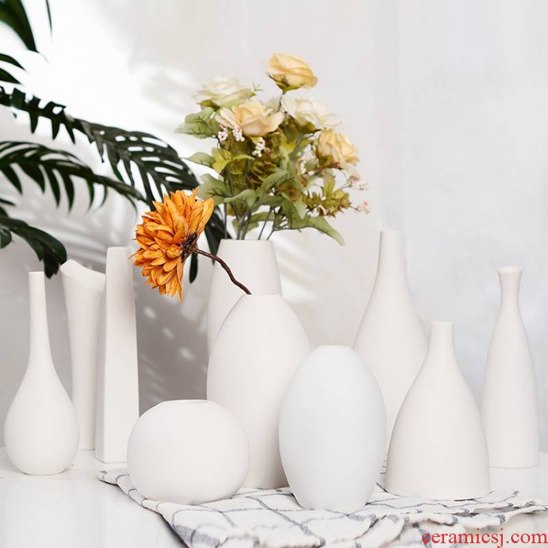 Two Two biscuit firing jingdezhen ceramic vase home furnishing articles creative arts and crafts ceramics ceramic vases, flower arranging flowers