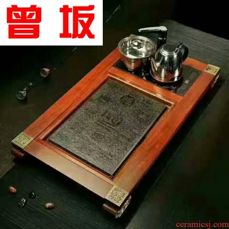 The Was sitting four unity fine South America annatto tea tray tea tray tea set high creative kung fu tea tray