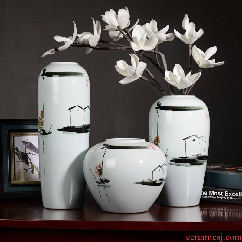 Household hand - made ceramic vase decoration decoration creative I and contracted sitting room ark, TV ark, furnishing articles